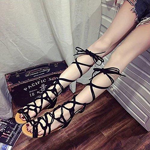 à glissière à Chaussures noir lacets à hibote lacets xXUwIw