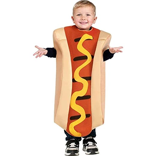 Fun World Hot Dog Toddler Costume, One Size 3T-4T, Multicolor