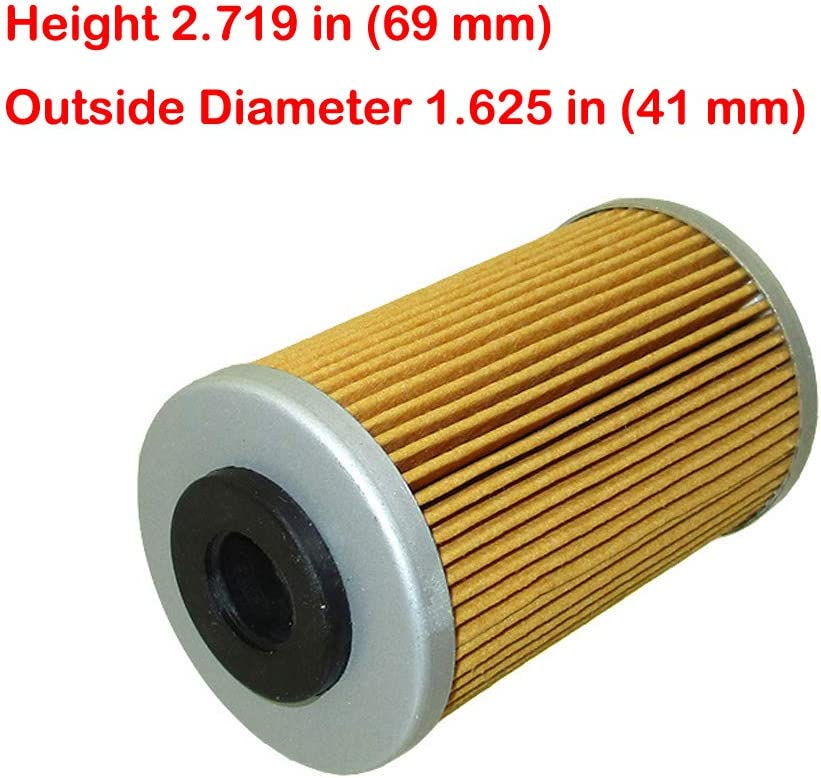 XLYZE /Ölfilter f/ür 58038005000 58038005100 Polaris 2520754 2005-2008 Beta RR Enduro 4T 525 450 400 250 Hochfilter