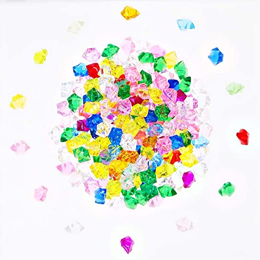 FunLavie Multi-Colored Acrylic Jewels Pirate Treasure Gems for Party Decorations Supplies Wedding Decorations and Vase Fillers 90Pcs