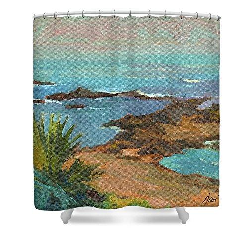 Pixels Shower Curtain (74'' x 71'') ''Low Tide'' by Pixels
