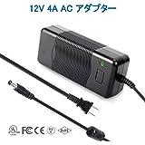 Signcomplex ACアダプター 12V4A 汎用ACアダプター DCポート直径5.5x2.1mm LED テープライト ビデオ カメラ 撮影 監視カメラ など用 安全・安定 AC - DC コンバータ DC 電源アダプター最大出力48W スイッチング式 充電器 PSE UL証明書