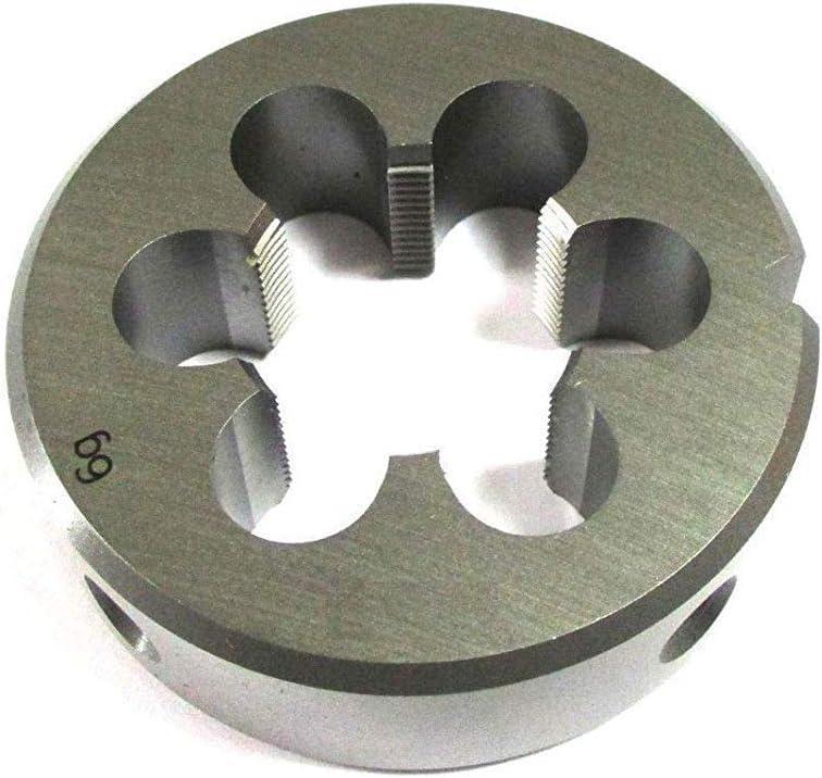 inklusive Schneideisenhalter Qualit/ät HSS Feingewinde DIN ISO 13 EU Produktion Schneideisen M8 x 1