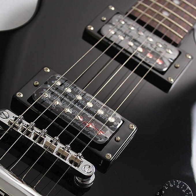 Miiliedy SG400 Estudiante principiante Autoaprendizaje Guitarra eléctrica negra Guitarra minimalista clásica Adecuado para Rock Roll Blues Heavy Metal ...