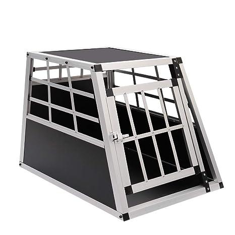 Qivange - Jaula de Transporte para Perro, Resistente, con ...