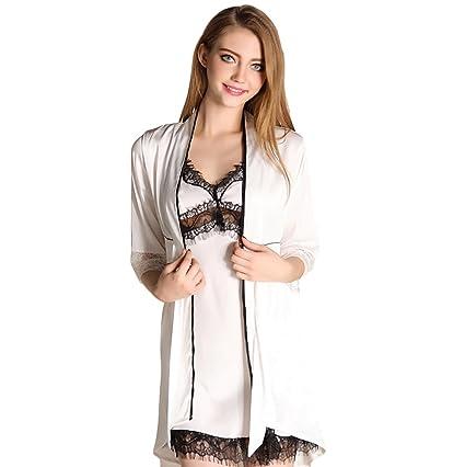 check-out 96313 1453a Vestito comodo Camicia da Notte di Seta Sexy di Seta (Colore ...