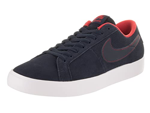 newest 3858d 252d4 Nike SB Blazer Vapor Mens Skateboarding-Shoes 878365-441 9. 5 -  Obsidian Obsidian-White-Track RED  Buy Online at Low Prices in India -  Amazon.in