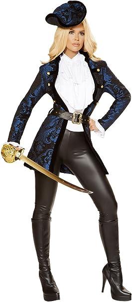 Amazon.com: Disfraz de capitán pirata sexy con accesorios ...