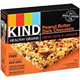 KIND Healthy Grains Granola Bars, Peanut Butter Dark Chocolate, Gluten Free, 1.2 oz Bars, 5 Count