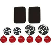 WUTEKU UltraSlim Accessories Pack for Magnetic Cell Phone Holder | Includes 2 x Large Metal Plates | 2 x Large Metal Discs | 2 x Standard Metal Discs | 6 x Mount Adhesives