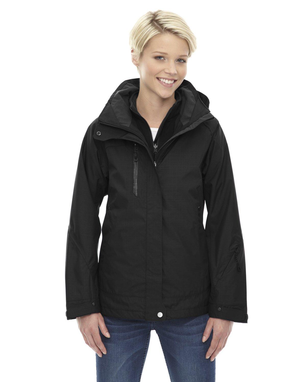 Ash City Ladies Caprice Jacket (X-Small, Black/Black)