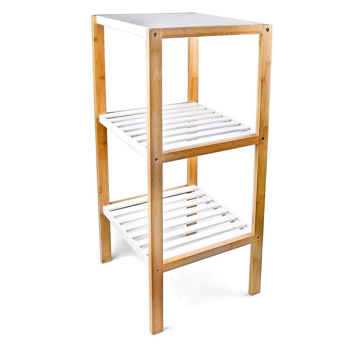 Generic Organizer Badezimmer-Regal mit mit mit S-Etagen, Holz, Bambus, Holz, Ständer für Badeschuhe und Schuhaufbewahrung d5c4d8
