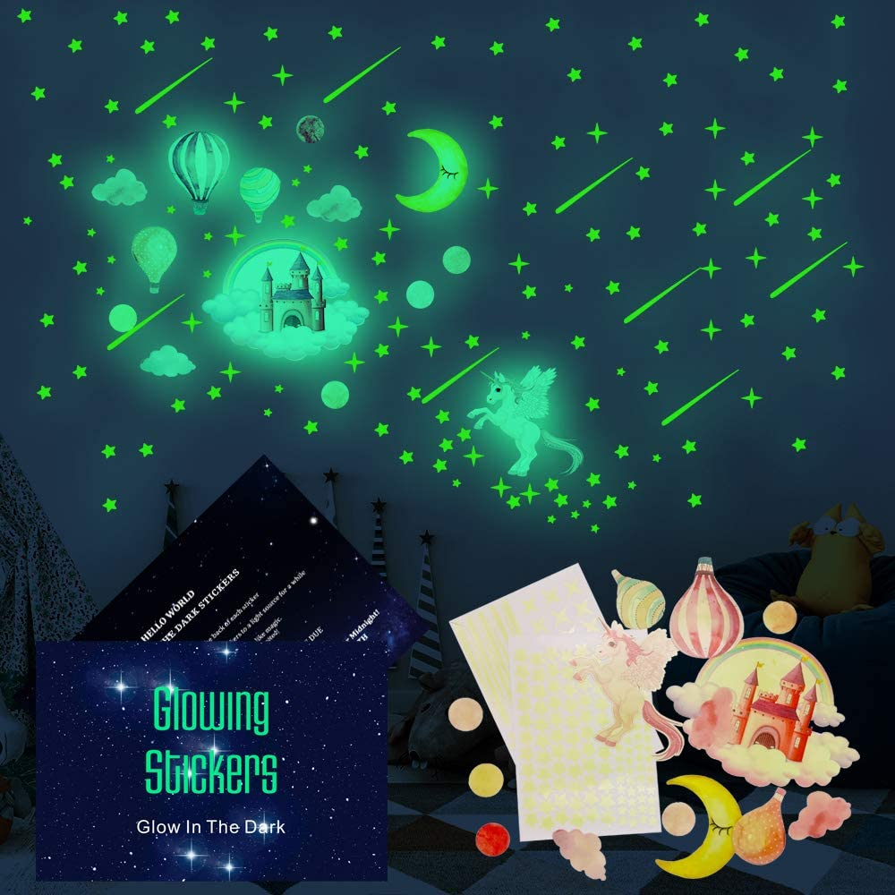GZCY Glow Solar Wall Stickers Set for Kids - Best Gifts