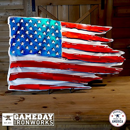 Gameday Ironworks Metal 3D Distressed American Flag (24