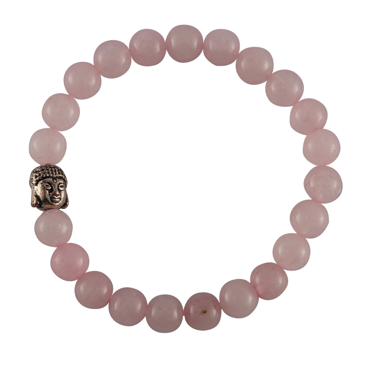 Aatm Gemstone Rose Pink Buddha Charm Bracelet Stone for Love Aatm Collection CNGPC-02