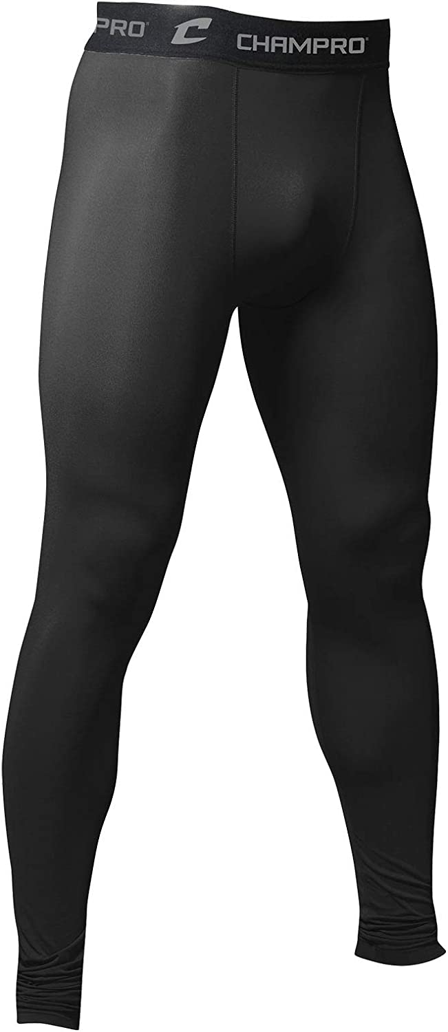 Youth Small Black CHAMPRO Polyester//Spandex Compression Tights