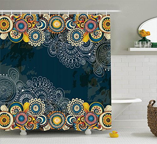 Ambesonne Psychedelic Decor Shower Curtain Set, Floral for sale  Delivered anywhere in USA