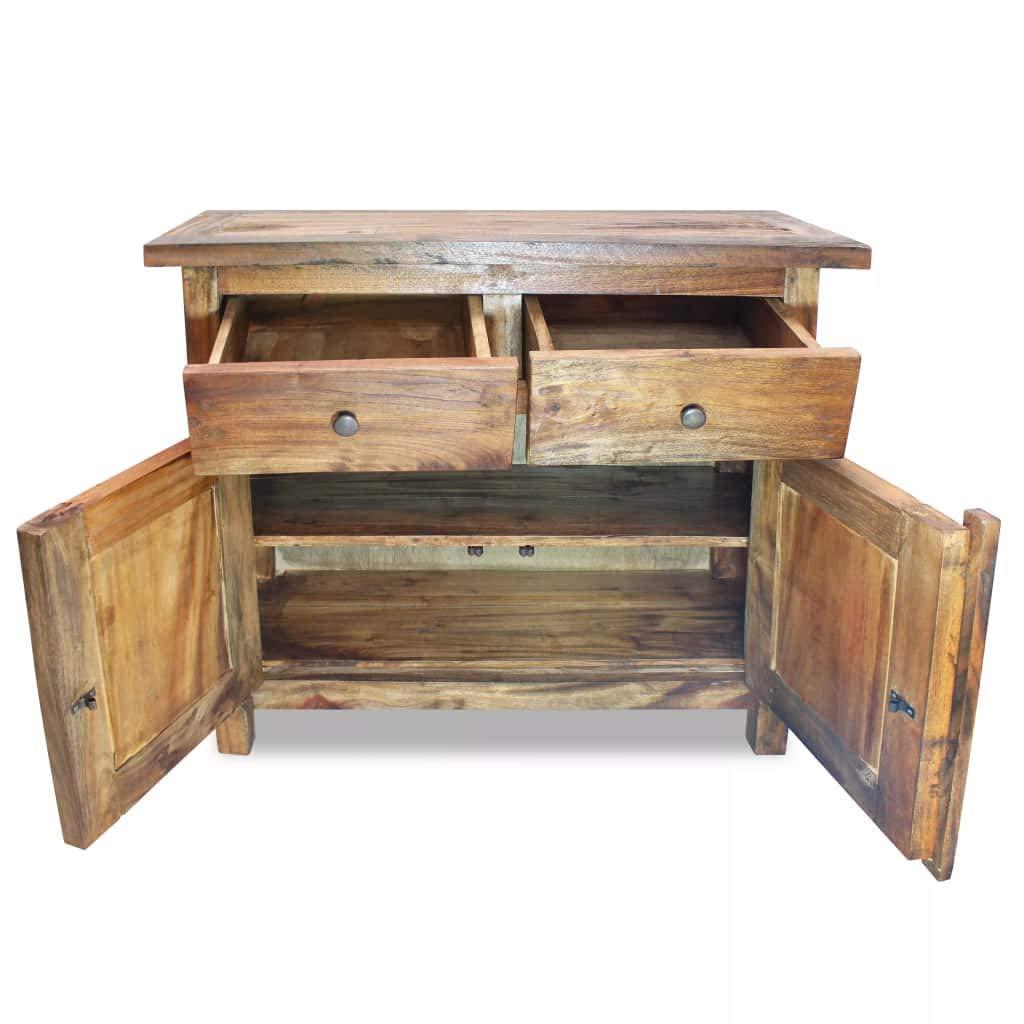 vidaXL Solid Wood Sideboard w/ 2 Doors 2 Drawers Side Cabinet Storage Cupboard by vidaXL (Image #4)