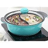 Life & Splendid Home 30cm Shabu Shabu Dual Sided Hot Pot Yin Yang Hotpot