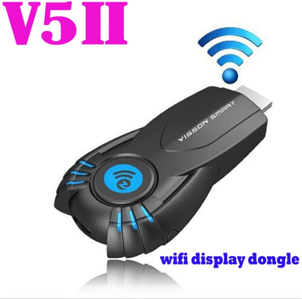 Wireless USB Adapter, Colorful visson v5ii ezcast WiFi pantalla Smart TV Stick Media Player Dongle DLNA Airplay 1080P: Amazon.es: Informática