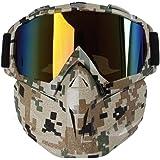 5d267998f84 Amazon.com   Wenyujh Anti-Fog Windproof Face Mask Motorcycle Ski ...