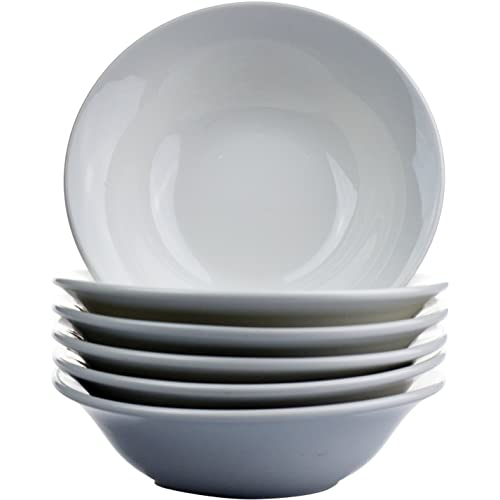 """Argon Tableware White Oatmeal Cereal Bowls - 15cm (6"""") - Box of 6"""