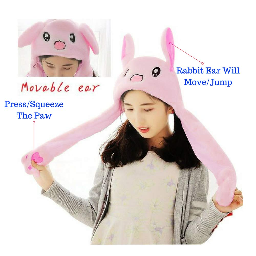 3b88a0867a6 Amazon.com   Trend Of 2018  Tik Tok Movable Jumping Rabbit Ear Hat Rabbit  Plushy  Costume Hat  Easter Hat  Halloween Hat  Easter Bunny   Toys   Games