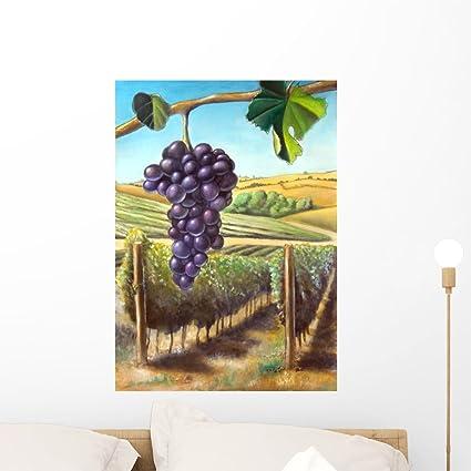 Wallmonkeys Grape And Vineyard Wall Mural Peel Stick Graphic 24 In H X 17