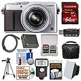 Panasonic Lumix DMC-LX100 4K Wi-Fi Digital Camera (Silver) with 64GB Card + Case + Flash & Soft Box + Battery + Tripod + Kit