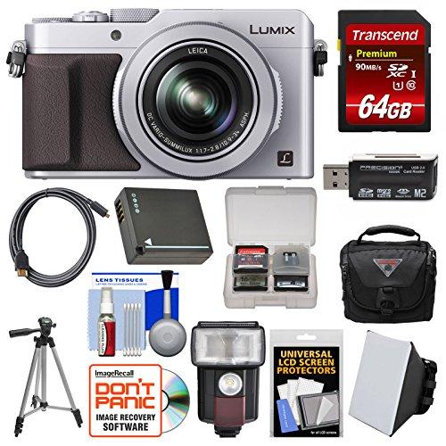 Panasonic Lumix DMC-LX100 4K Wi-Fi Digital Camera  with 64GB