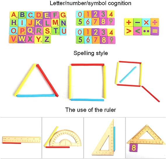 Holzern Formensortierer Spielzeug Puzzle Lernen Mehrfarbig Neu