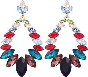 Sweepstakes: Multicolor Crystal Chandelier Drop Earrings - Rainbow CZ...