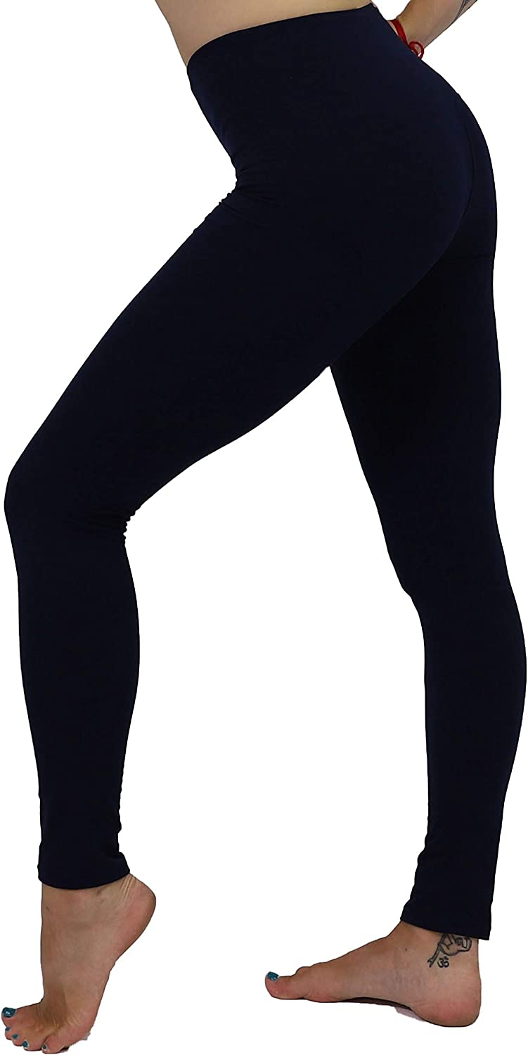 Black Leggings YOGA Workout One Size Buttery SOFT Solid S M L Christmas GIFT