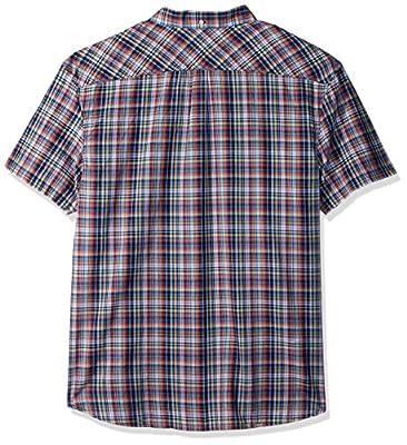 Original Penguin Men's Short Sleeve Stretch Plaid Shirt