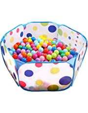 Tech Traders ® Kids Ball Pit, Indoor & Outdoor Play Tent Playpen Ball Pit Pool with Blue Zippered Storage Bag (Balls not Included)