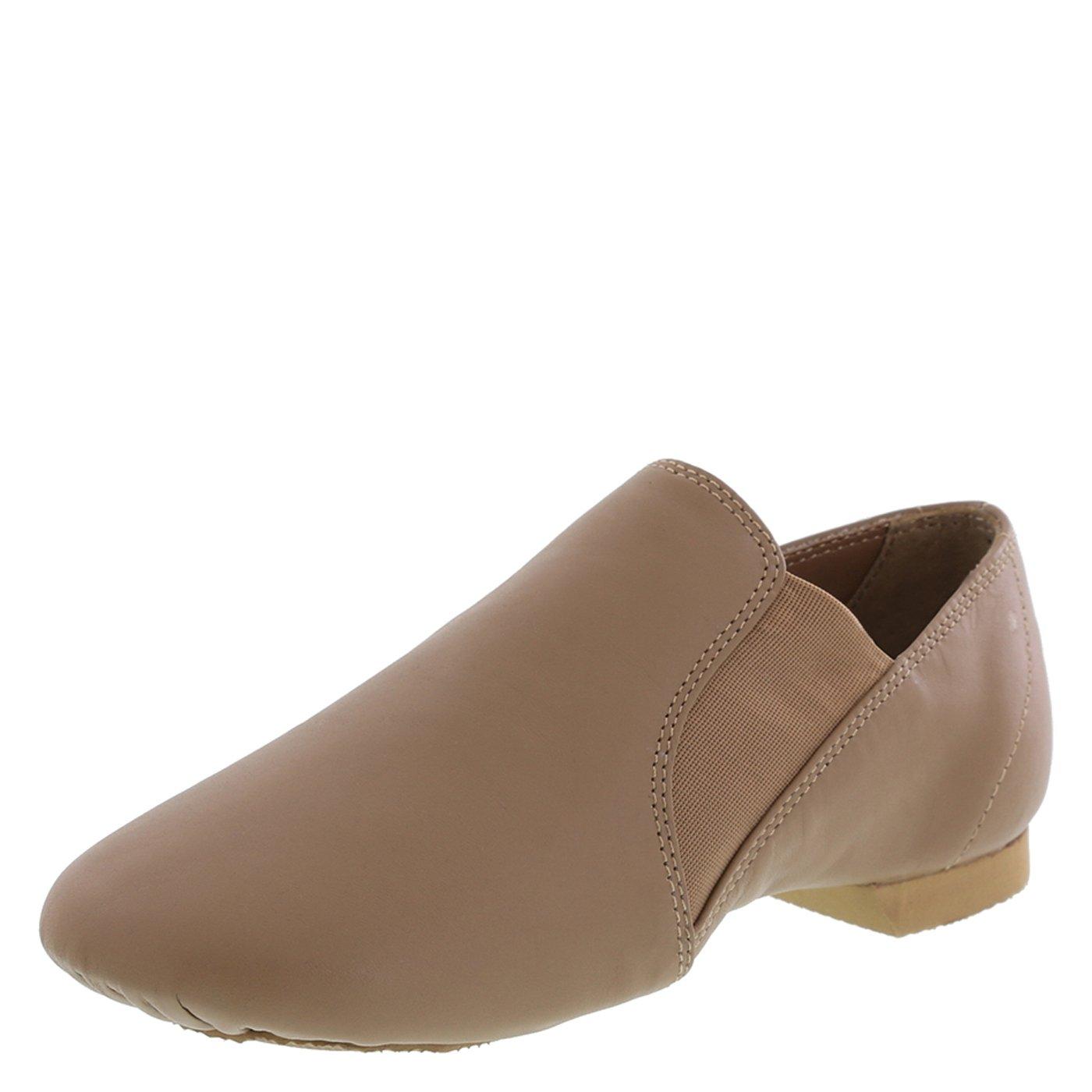 American Ballet Theatre for Spotlights Women's Tan Twin Gore Jazz Shoe 7 M US