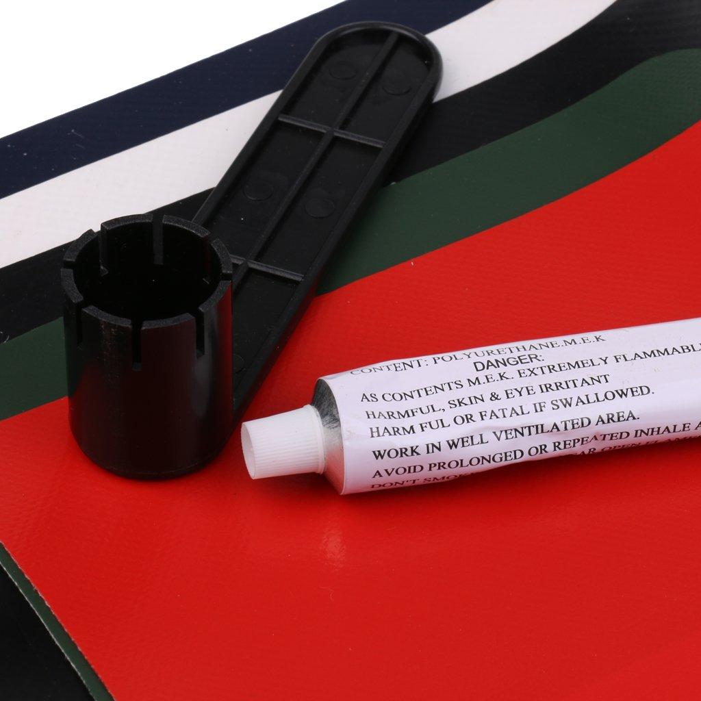 Set Kit De R/éparation De Bateau Gonflable Accessoires De Kayak FLAMEER 8pcs