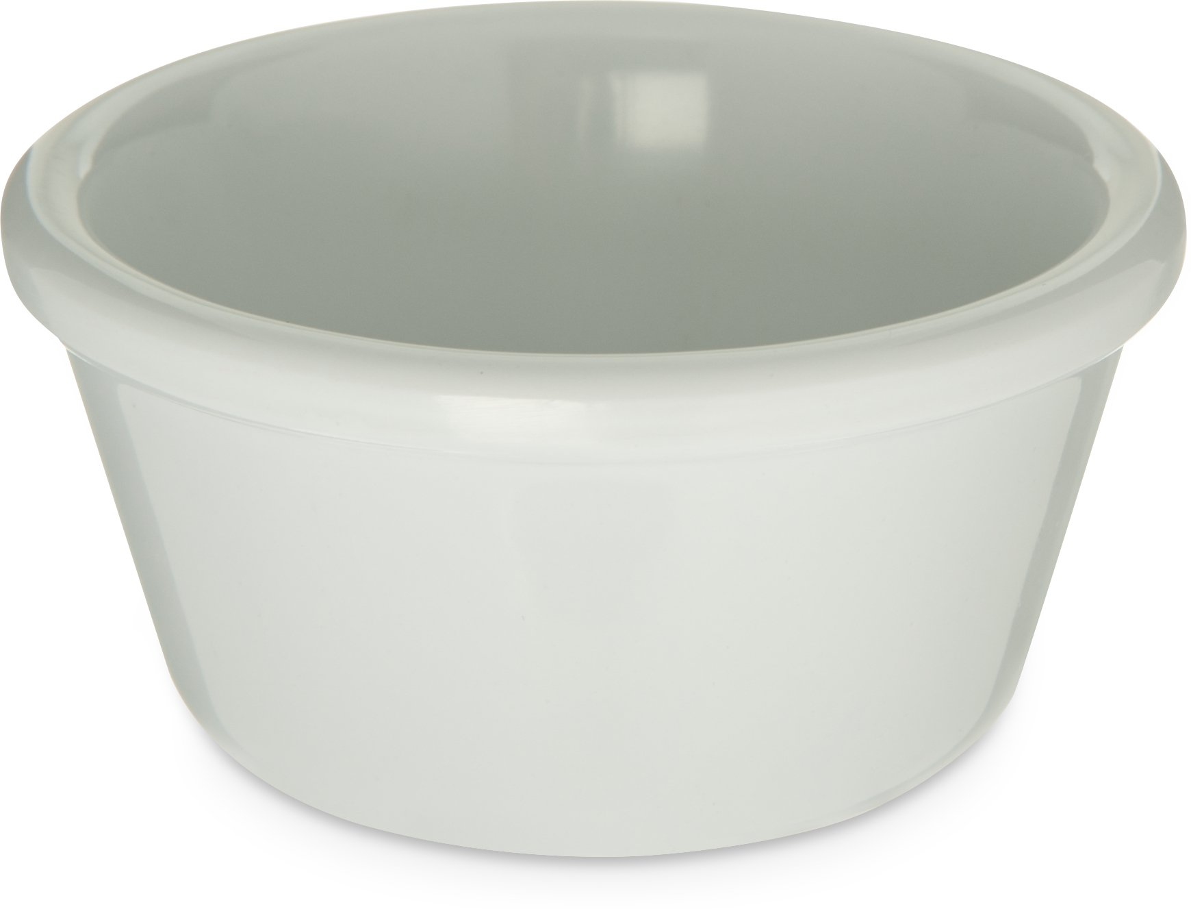 Carlisle S28002 Melamine Smooth Ramekin, 3 oz. Capacity, White (Case of 48)