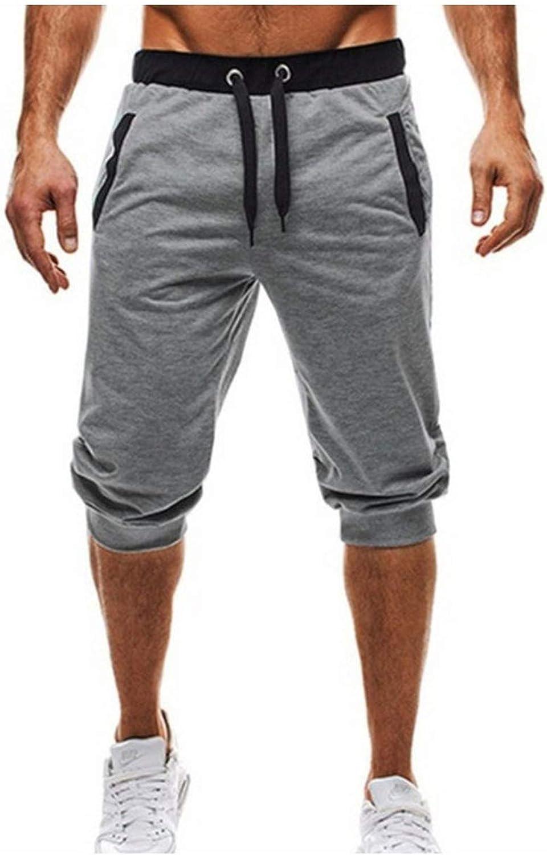 Summer Shorts Men 3//4 Trousers Short Fitness Sweatpants Bodybuilding Men Shorts Jogger Clothing