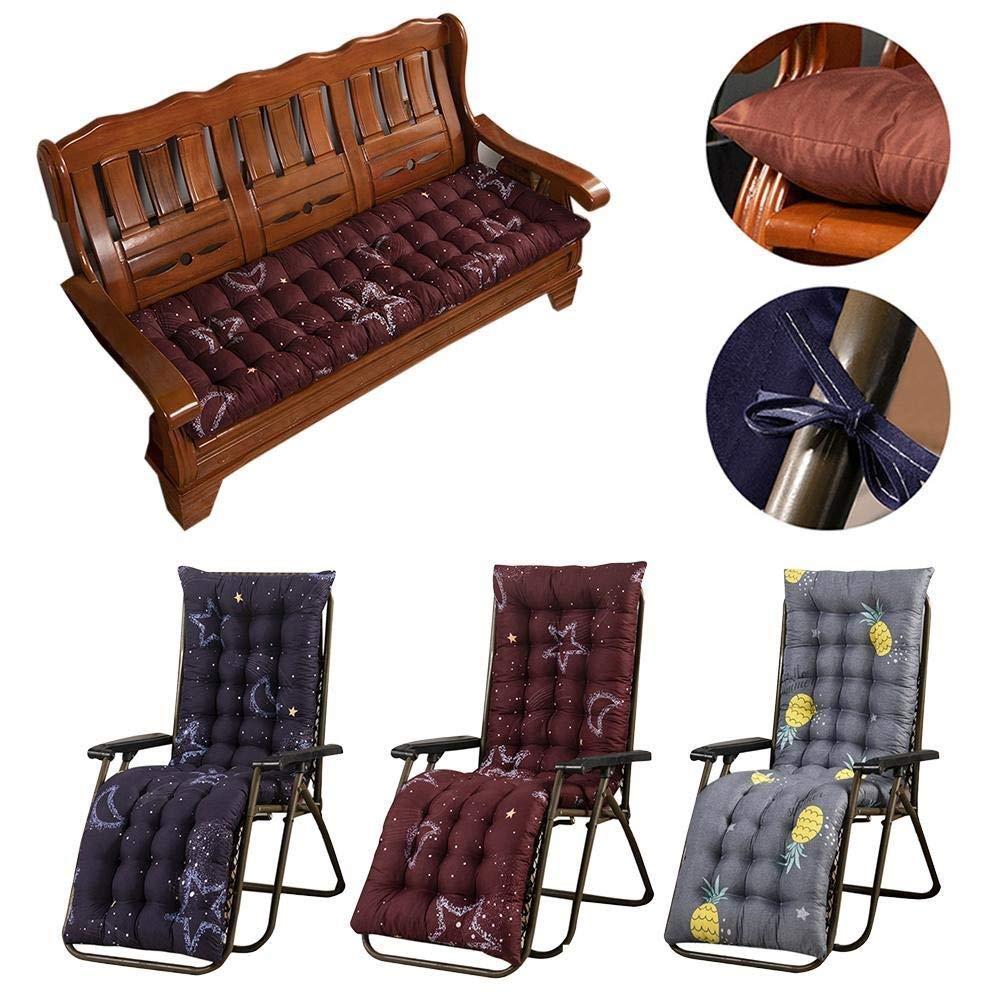 ZYN Massiv kudde matta för vilstol stol stol sits vikbar tjock trädgård sol lounge sittdyna soffa tatamimatta för vilstolar (färg: J) b