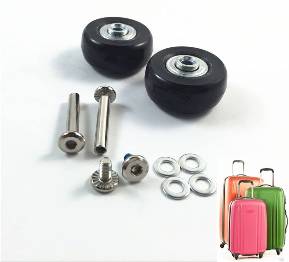 ABBOTT OD. 43mm幅 18mm 車軸 35mm ラゲージスーツケース/インラインアウトドアスケート交換用ホイール ABEC 608zzベアリング付き