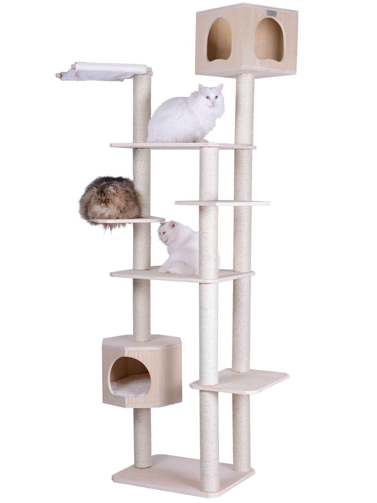 Armarkat 89 inch Premium Solid Wood Cat Tree Tower