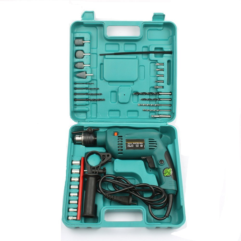LUBAN 32pcs Mutilfunctional Impact Electric Drill With Extra Toolbox Power Tools