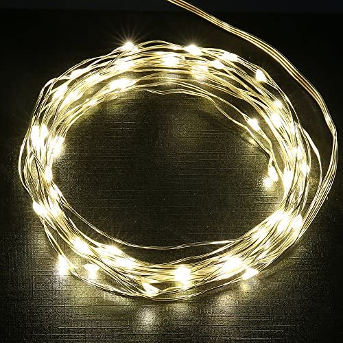 Uzexon USB Led Starry String Lights with 8 Modes Remote Control,17Ft 100 LEDs Flexible Silver Wire Firefly Christmas Lights,Perfect for Indoor Outdoor Garden Bedroom Partio Wedding Party Decor