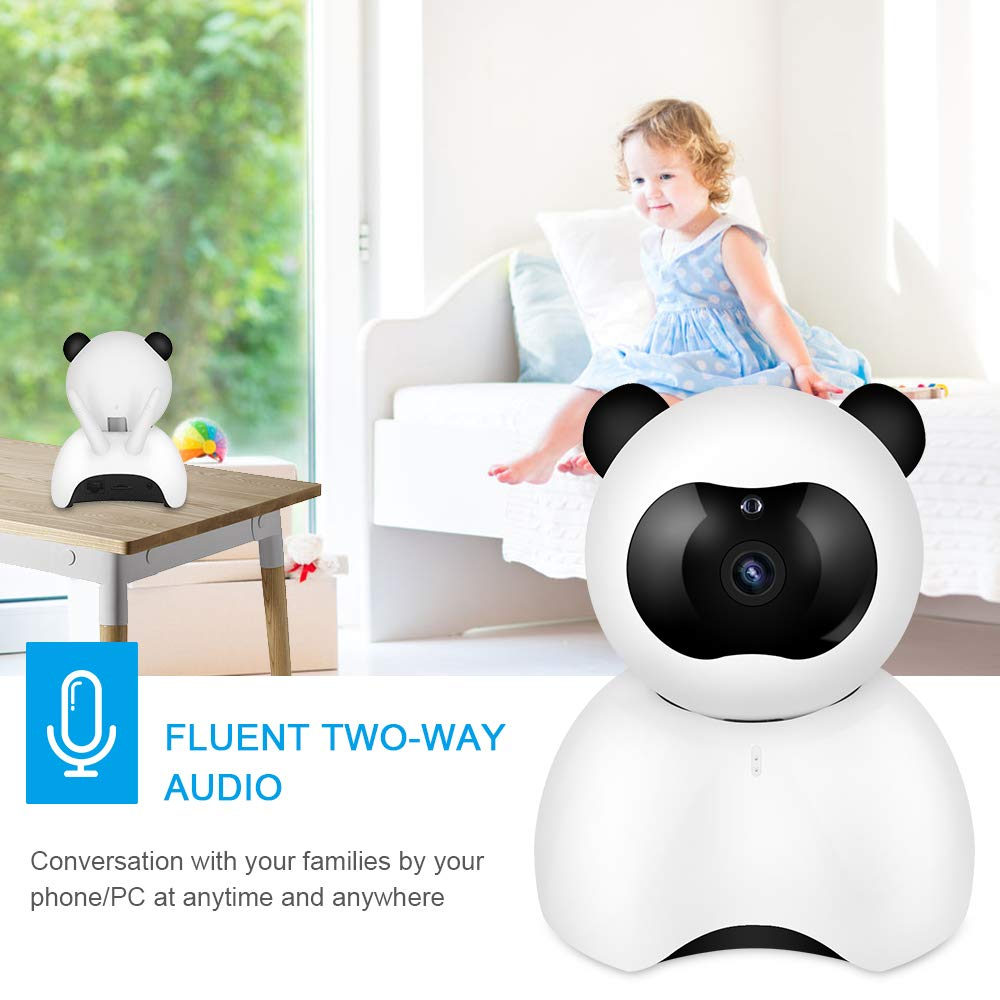 NewPal baby monitor Wireless 1080P Security Camera WiFi home Surveillance IP Camera for baby//pet//nanny monitor with PTZ Remote// Motion Detection// Two Way Audio and Night Vision
