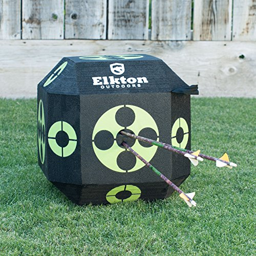 Elkton Outdoors 2017 Edition 18-Sided 3D Cube Reusable Archery Target Constructed With Arrow Puller & Rapid Self Healing XPE Foam for all Arrow Types by Elkton Outdoors (Image #3)