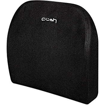 Extended reach lumbar support pillow by Cush Comfort - Ergonomic back cushion to alleviate back pain - Orthopedic chair or seat support in office, home, or car