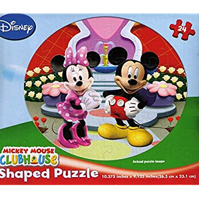 24 Piece Minnie Mouse Puzzle (Assorted) - Childrens Beginner Puzzle: Toys & Games