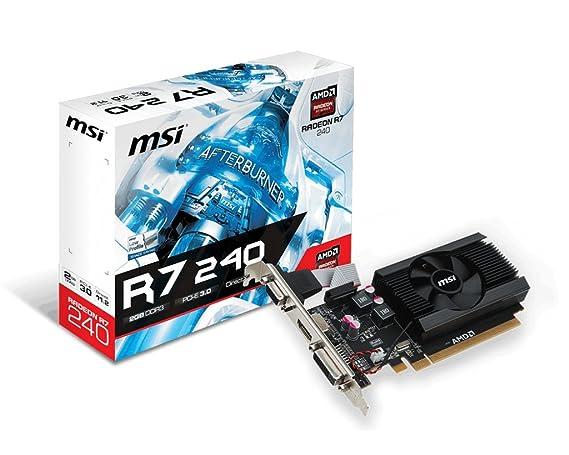 MSI R7 240 2GD3 LP Radeon 240 Graphic Card - 730 MHz Core Boost Clock - 2  GB DDR3 SDRAM