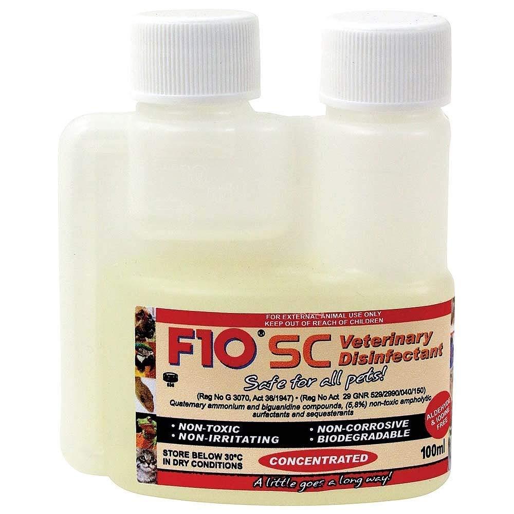 F10 SC Veterinario desinfectante Seguro para Todos los Mascotas ...